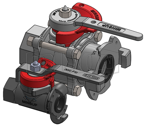 Minsup Lockout Econovalve Female x Surelock™ Ball Valve
