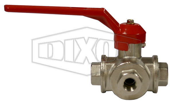 3-Way Brass Ball Valve BSP