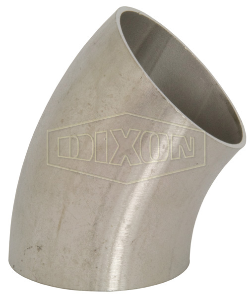 Unpolished 45° Weld Elbow