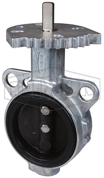 One Piece Aluminum Butterfly Valve with Iron Disc