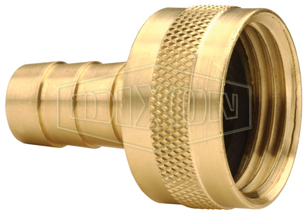 Short Shank GHT Female Coupling with Round Nut