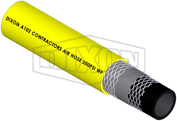Rubber Contractors Yellow Air Hose (A102)