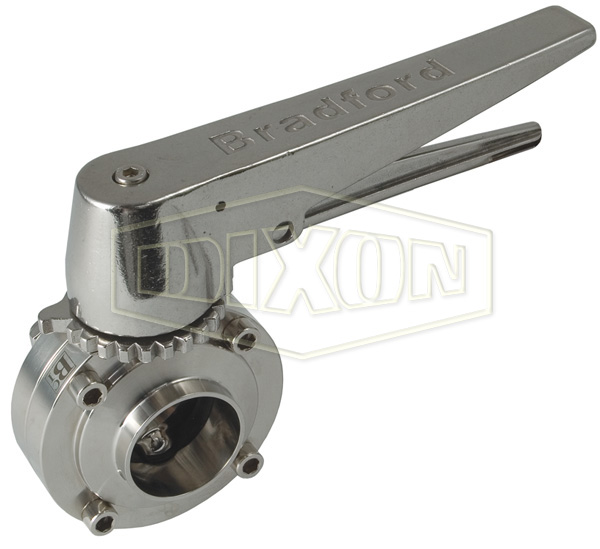 B5101 Series Butterfly Valve with Trigger Handle Weld End