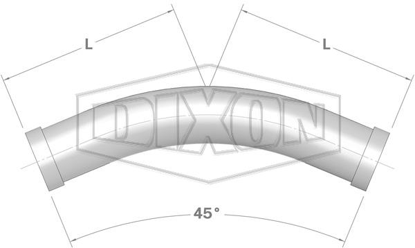 Shouldered End 45° Bend