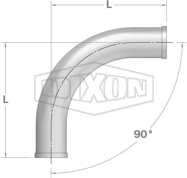 Shouldered End 90° Bend