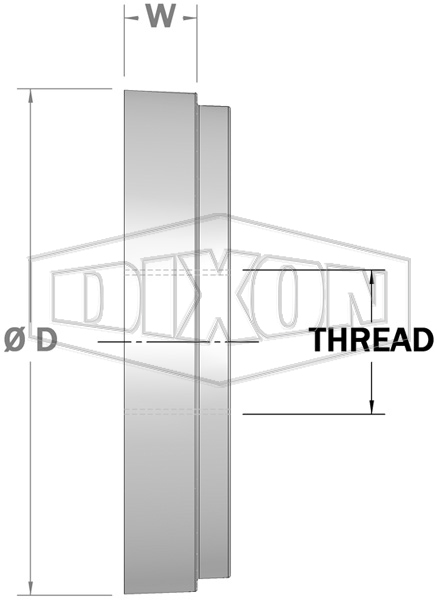 Shouldered Blank End with Female BSP Outlet
