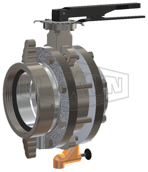 Aluminum Storz x Female Swivel Butterfly Valve