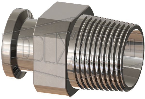 BioPharm Clamp Adapter x Male NPT