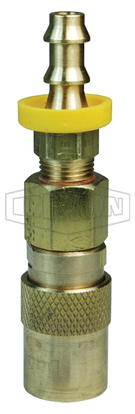 DQC CM-Series Industrial Mold Interchange Valved Coupler Push-Loc Barb