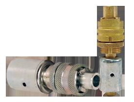 Dix-Lock™ N-Series Bowes Interchange Coupler with Ferrule Male Locking Head