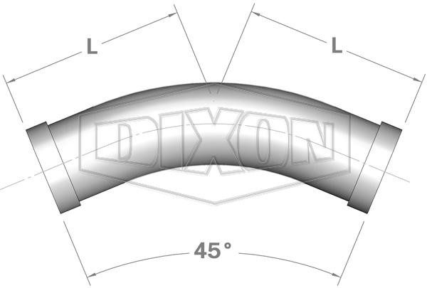 Shouldered End 45° Elbow
