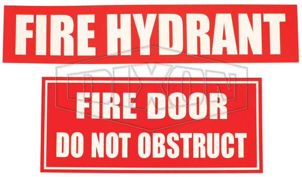 Hydrant Booster Sign
