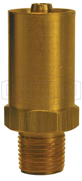 Grease Whip Male NPT Chamfered Base Hose Fitting