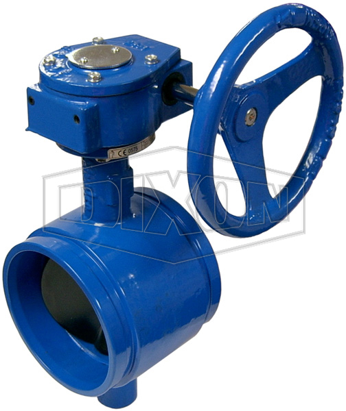 Grooved Gear Operated Butterfly Valve