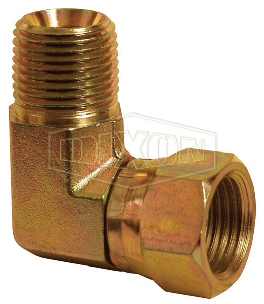 90° Male NPTF x Female NPSM Swivel Nut Elbow