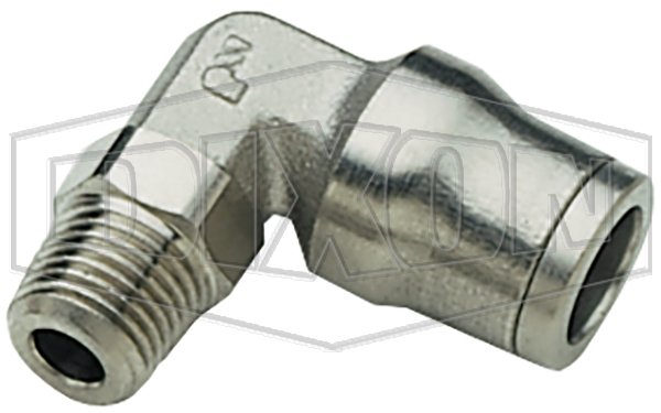 Nickel-Plated Brass Legris Push-In Male Elbow