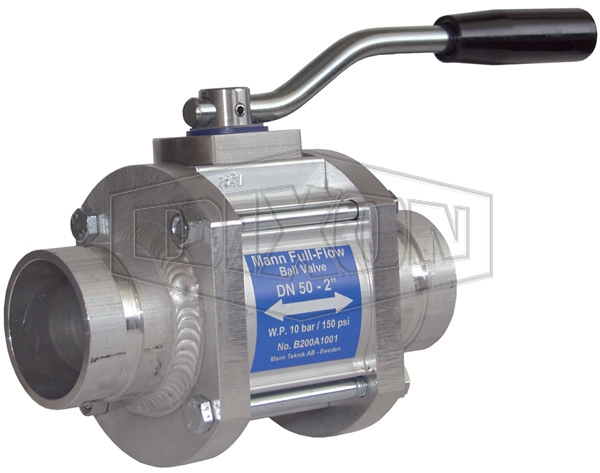 MannTek One-Way Full Flow Ball Valve Grooved