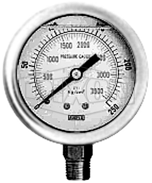 Anfo Loader Replacement Pressure Gauge