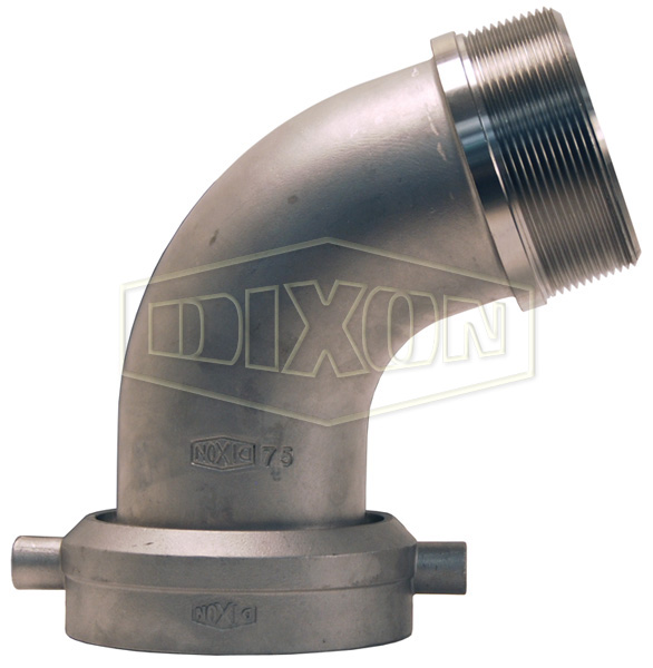 Railroad Tank Car Connection x Male NPT Elbow