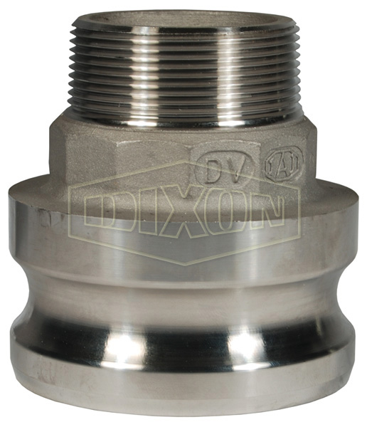 Cam & Groove Reducing Type F Adapter x Male NPT