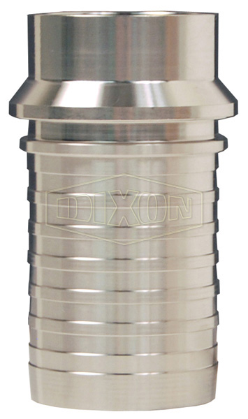 Dixon® Sanitary Style Crimp Stem Tube Weld End x Hose Shank