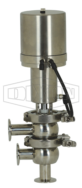 SV-Series Single Seat Hygienic Valve F Body Pneumatic Actuator Spring Return Air to Lower, Basic Control Top