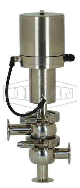 SV-Series Single Seat Hygienic Valve L/L Body Pneumatic Actuator Spring Return Air to Raise, Basic Control Top