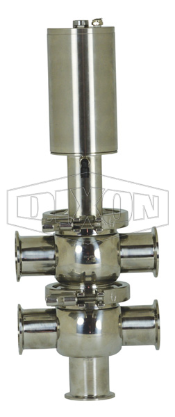 SV-Series Single Seat Hygienic Valve T/T Body Pneumatic Actuator Spring Return Air to Lower