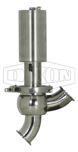 SV-Series Single Seat Hygienic Valve Y Body Double Acting
