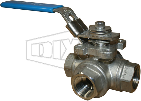 3-Way Stainless Steel Ball Valve BSP
