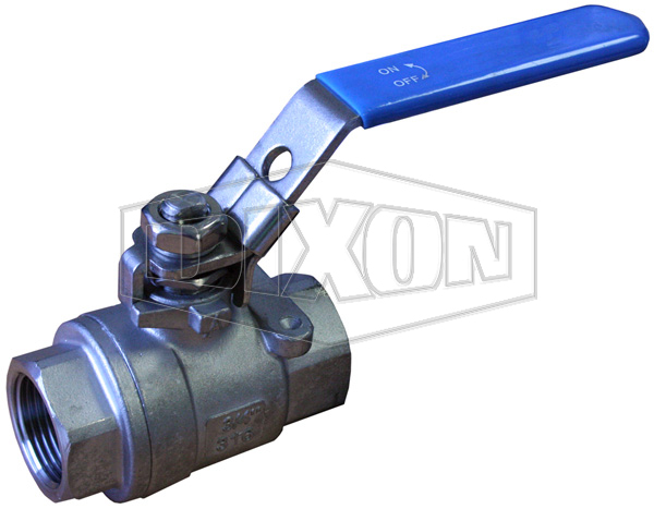 2 Piece Locking Stainless Steel Ball Valve BSP