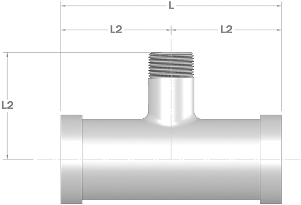 Shouldered End Reducing Tee with Male BSP Outlet
