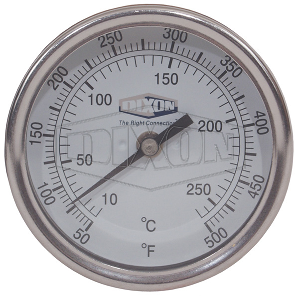 "Bi-Metal Back Connected 3"" Face Thermometer"