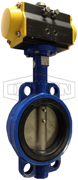 Pneumatically Actuated Wafer Butterfly Valve Table E