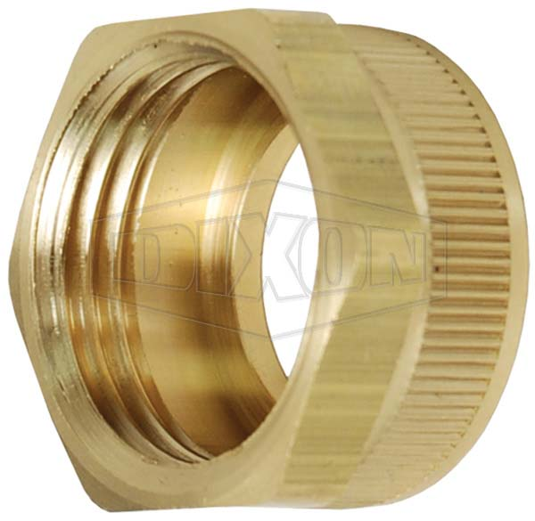 Garden Hose Hex Nut with Knurl - Lead free option