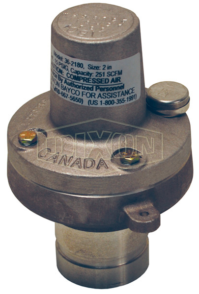 air relief valve fixed pressure grooved aluminum