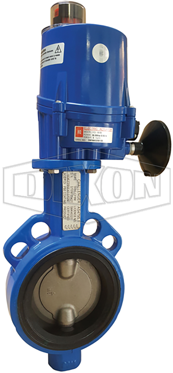 Electrically Actuated Wafer Butterfly Valve Table E