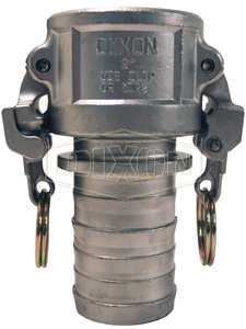 EZ Boss-Lock™ Cam & Groove Type C Coupler x Hose Shank with Collar