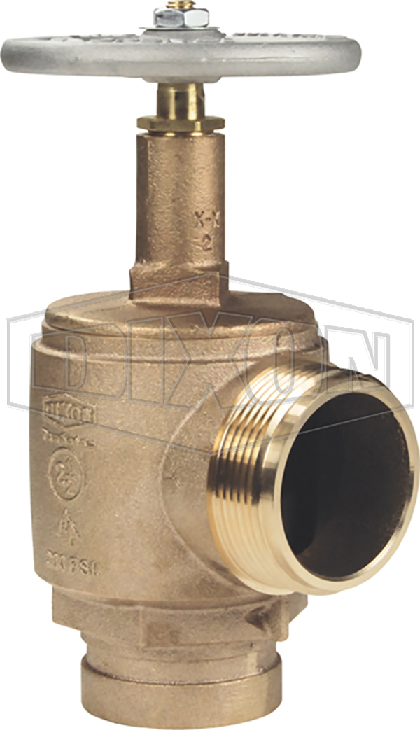 Domestic Brass Angle Hose Valve Grooved Inlet