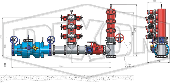 NSW Combined suction Booster w/ Backflow Prevention 6 Point
