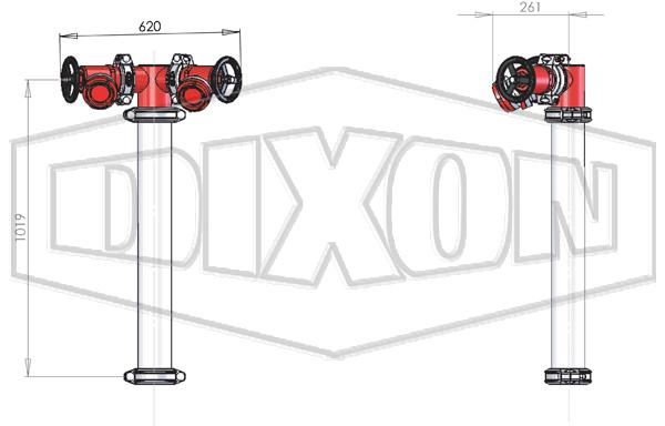 VIC/TAS Twin Hydrant Riser