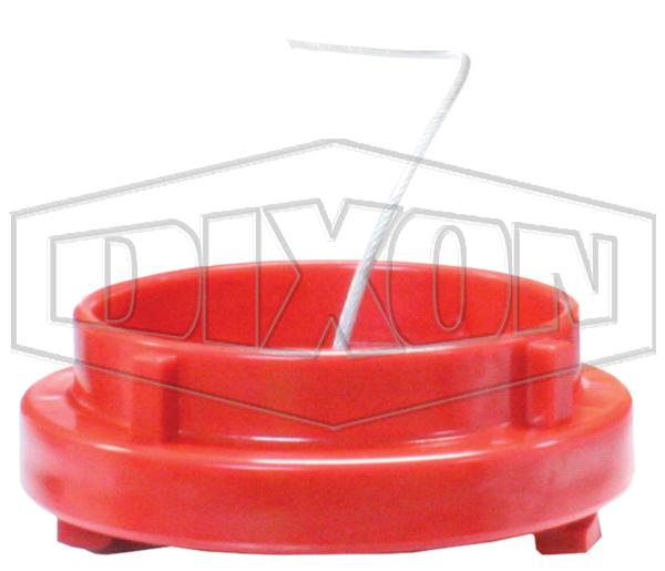 fire hydrant landing valve cap plastic red