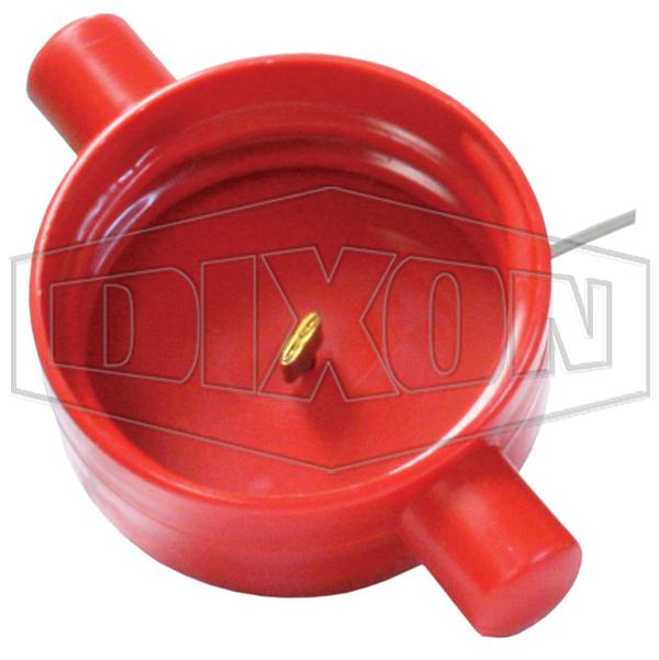 fire hydrant landing valve cap plastic red qld-qrt