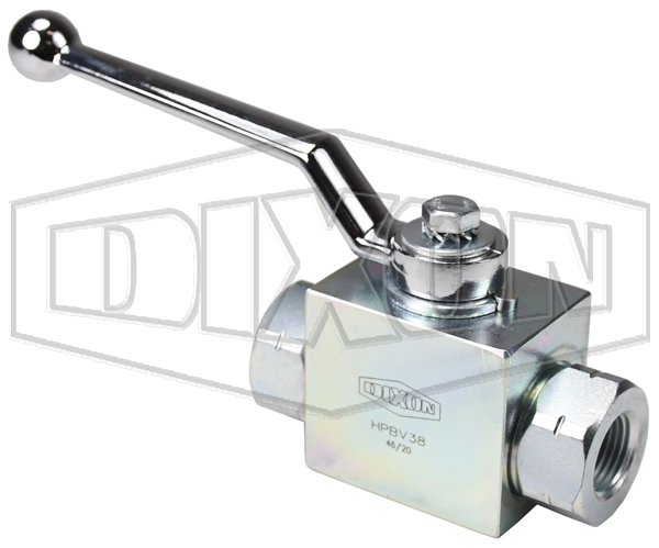 High Pressure Clear Zinc Ball Valve