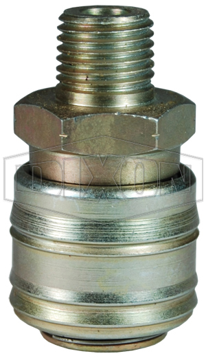 M-Series ARO Pneumatic Automatic Male Threaded Coupler