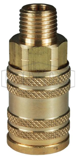 M-Series ARO Pneumatic Manual Male Threaded Coupler
