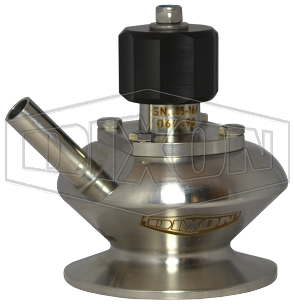 BSV Series Dixon/Rieger 3A Sample Valve, Single Port with Manual Handwheel