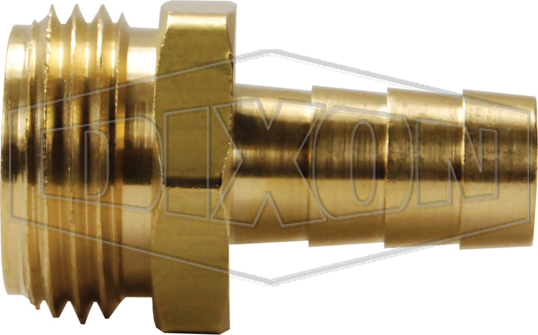 Short Shank GHT Male Coupling with Hex Nut