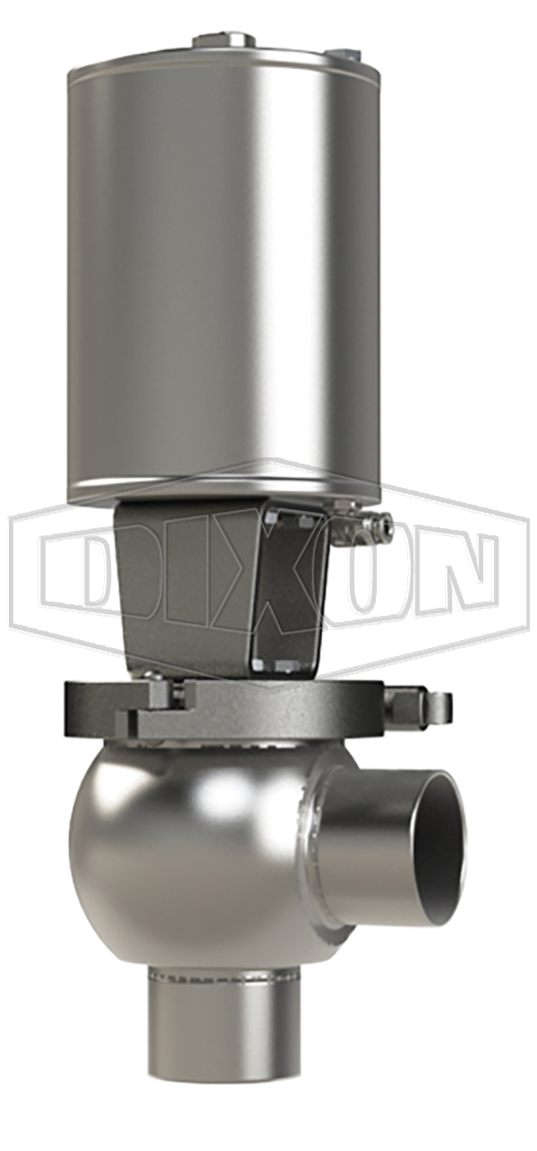 SSV Series Single Seat Valve, Shut-Off L Body, Weld, Double Acting Actuator (Air-To-Air)